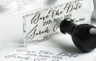 Personalised stamp showing wedding dates