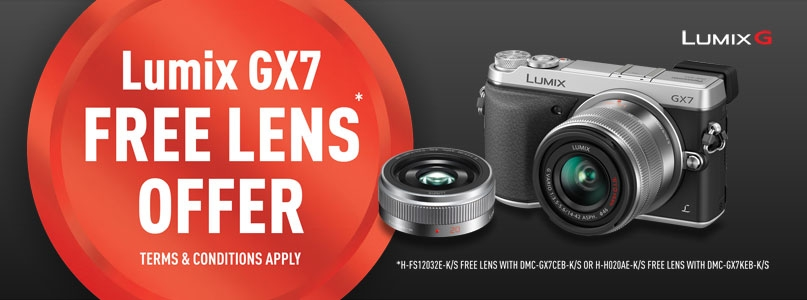 Lumix GX7 Free Lens Offer