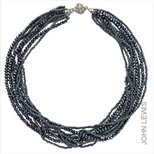 John Lewis Sparkle Twisted Bead Necklace