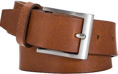 John Lewis Full Grain Leather Belt, Tan