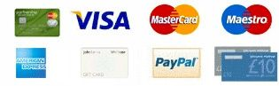 Accepted international payment methods