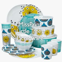MissPrint Little Trees Picnicware