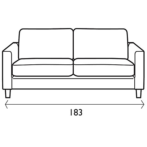 Buy John Lewis Portia Medium Sofa with Light Legs, Fraser Crimson Red Online at johnlewis.com