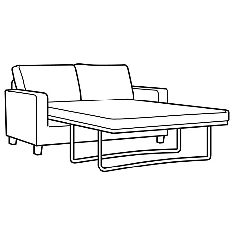 Buy John Lewis Portia Sofa Bed with Dark Legs, Earth Online at johnlewis.com