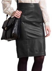 Somerset by Alice Temperley Leather Pencil Skirt