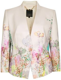 ted baker wispy meadow print jacket light pink