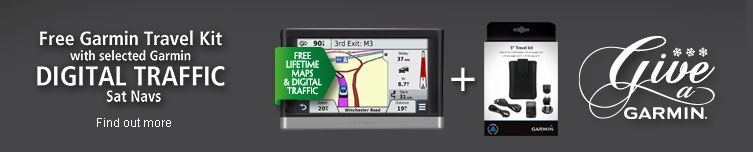 Free Garmin Travel kit with selected garmin digital traffic sat navs