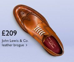 £209 John Lewis & Co. leather brogue - Shop now