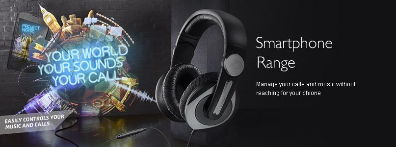 Sennheiser- Smartphone Range - Manage your calls and music without  reaching for your phione