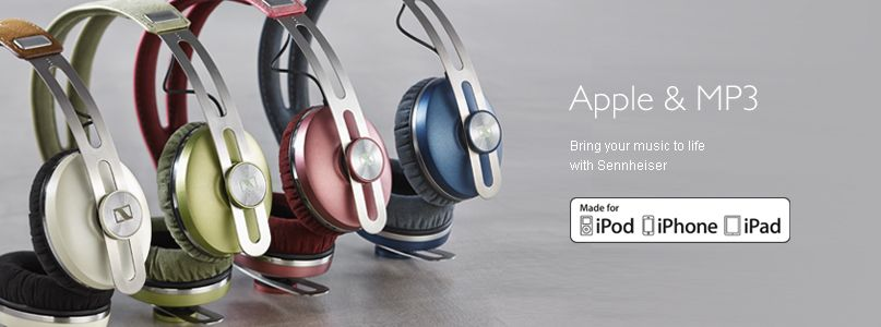 Sennheiser Apple and MP3 - Bring your music to life  with Sennheiser