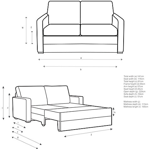 Buy John Lewis Siesta Sofa Bed With Foam Mattress Fraser