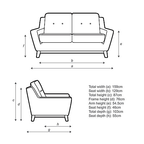 Buy G Plan Vintage The Fifty Three Small 2 Seater Sofa Online at johnlewis.com