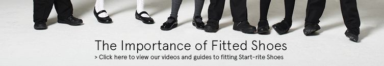 the importance of fitted shoes. click here to view our videos and guides to fitting start-rite shoes