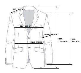 Image of how to measure a jacket