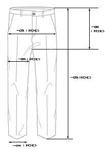 Image of how to measure trousers
