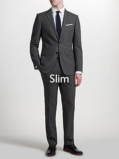 Slim fitting suits