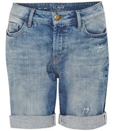 French Connection Distressed Denim Shorts, Sunbleach