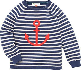 John Lewis Anchor Stripe Jumper, Navy, £15 - £16