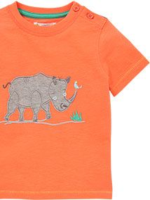 John Lewis Rhino T-Shirt, Orange, £9 - £10