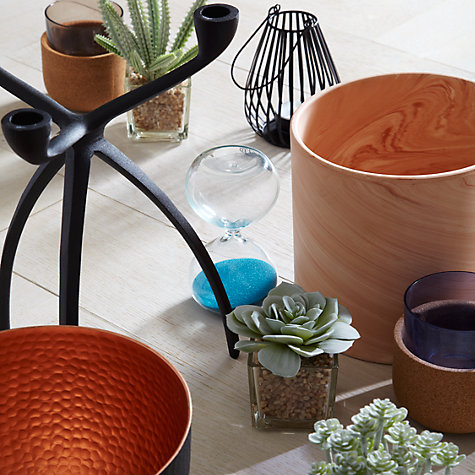 Buy Olaus Ceramic Planter, Orange, Large Online at johnlewis.com