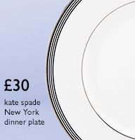 kate spade New York dinner plate