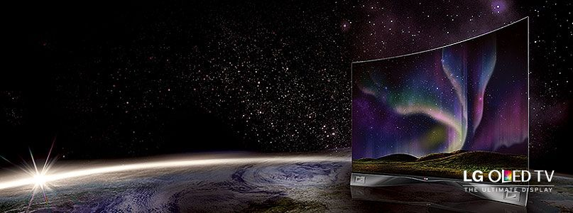 The World'd first  curved OLED TV