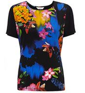 COLLECTION by John Lewis Fleur Printed Top, Black/Multi