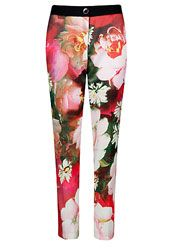Ted Baker Tiina Rose Print Trousers, Bright Pink