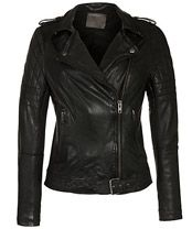 Muubaa Nido Quilted Biker Jacket, Black, £380