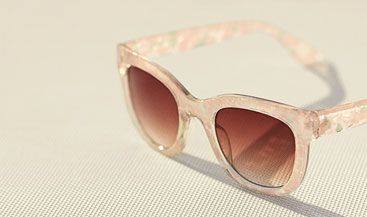 John Lewis Pearlised Square Framed Sunglasses, Pink, £20.00