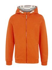 John Lewis Boy Zip Through Hoodie, Burnt Orange, £18.00 - £20.00
