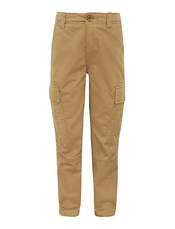 John Lewis Boy Broken Twill Cargo Trousers, Beige, £18 - £20