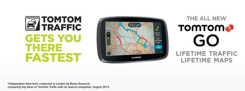 The all new TomTom Go - Lifetime traffic, lifetime maps