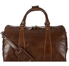 John Lewis Made in Italy Brown Holdall