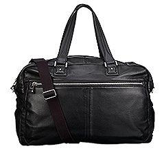 John Lewis Manhattan Black Leather Holdall