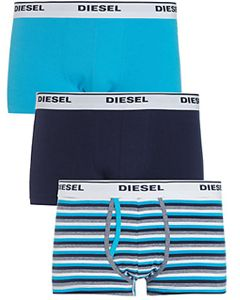 Diesel Kory plain and stripe trunks, pack of 3