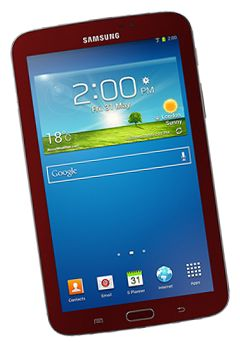 Samsung Galaxy Tab 3, Red  £119.00 - £139.00