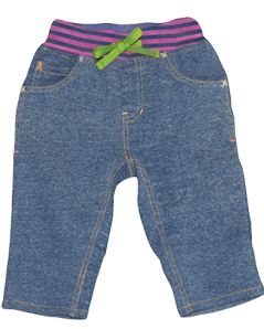 Frugi Baby Organic Cotton Henny Jeans, Blue