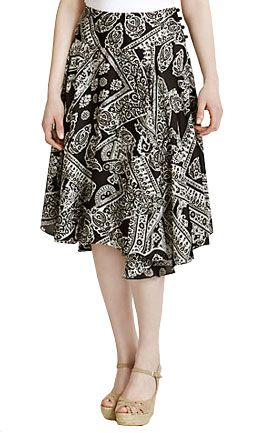 Lauren by Ralph Lauren Printed Gypsy Skirt
