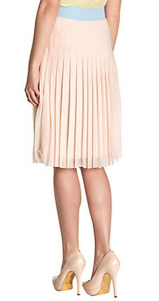 Ted Baker Colour Block Pleated Skirt