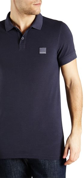 BOSS Orange Pascha Slim Fit Polo Shirt, Navy