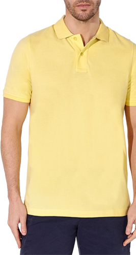 John Lewis Organic Cotton Polo Shirt, Yellow