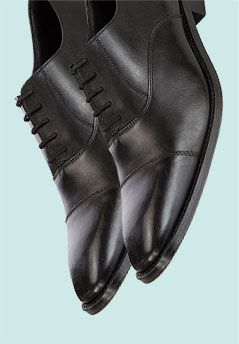 John Lewis Henley Calf Leather Oxford Shoes, Black