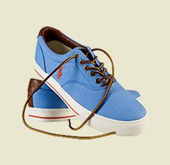 Polo Ralph Lauren Vaughn Faded Plimsolls, Blue