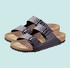 Birkenstock Arizona Birko Flor Sandals, Black