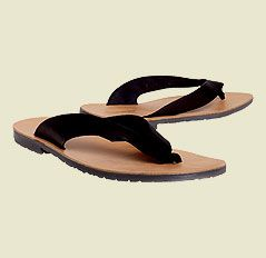 KG by Kurt Geiger Fuse Leather Flip Flops, Black