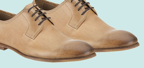Clarks Derby Euston Leather Derby Shoes, Tobacco