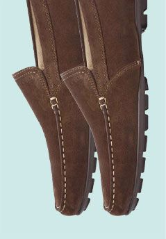 Geox Monet Suede Moccasins, Coffee