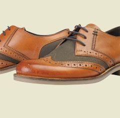 Barbour Westoe Leather and Wax Brogue Shoes, Brown