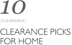 Top 10 clearance picks from home